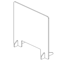 manufactory wholesale Clear Acrylic Plexiglass Plastic Sneeze Guard Shield for counter desk