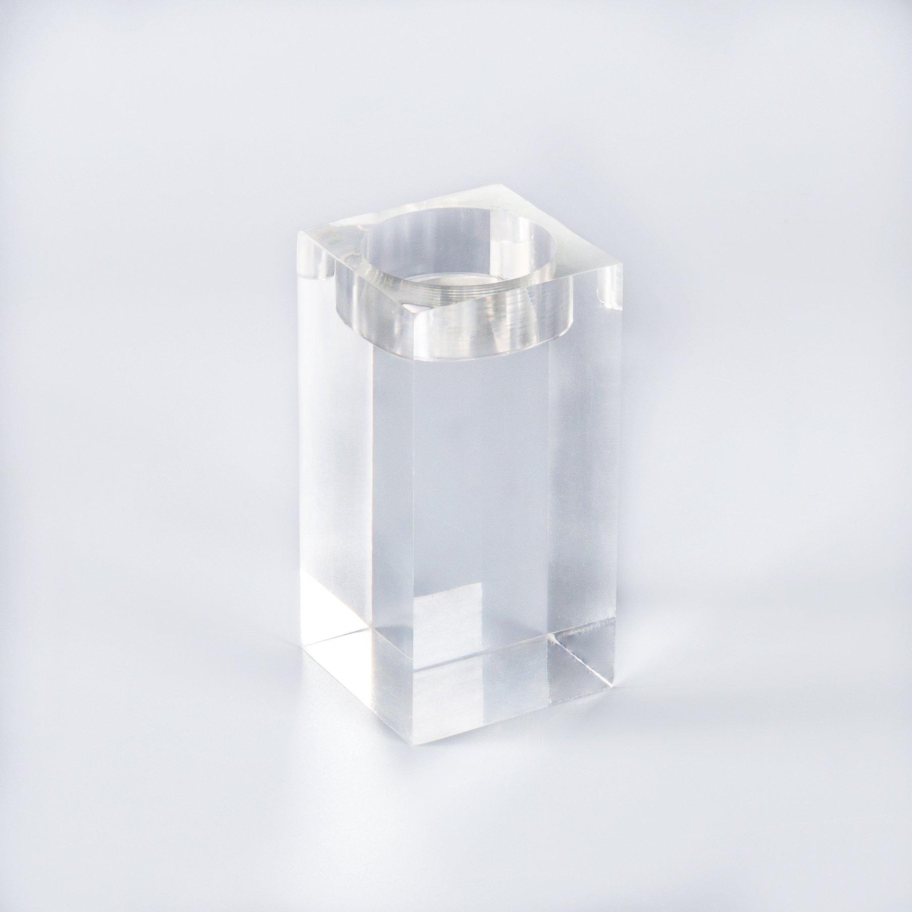 Jelas Transparan Acrylic Lucite Lilin Pemegang Natal Tealight Plastik Akrilik Nazar Lilin Pemegang Kristal untuk Pernikahan