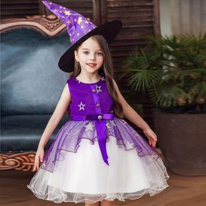 Halloween Costume For Kids Witch Costume Girl Fancy Dress Hat Children Infantil Carnival Party Child Cosplay Drop Shipping
