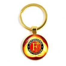 Feyenoord Роттердам 25 мм стеклянный кабошон брелок футбольные лиги логотип футбольный клуб брелоки для женщин и мужчин подарок фанатам(Китай)