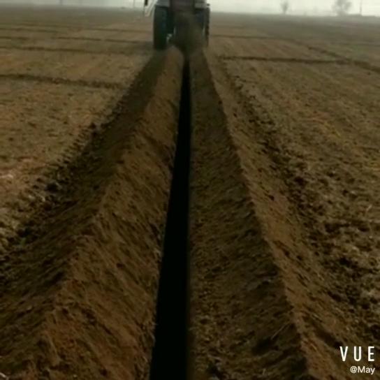 La última de alta calidad maquinaria de granja tractor PTO montada cadena zanjadora