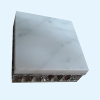 Stone aluminum honeycomb composite board used for interior decoration TV wall board