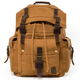 Hiking outdoor tactical waterproof vintage canvas leather laptop backpack for men backpack
