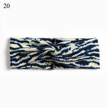 Винтажная Женская повязка на голову с цветочным принтом, широкая повязка на голову с перекрестным узлом для женщин и девочек, модная эласти...(Китай)
