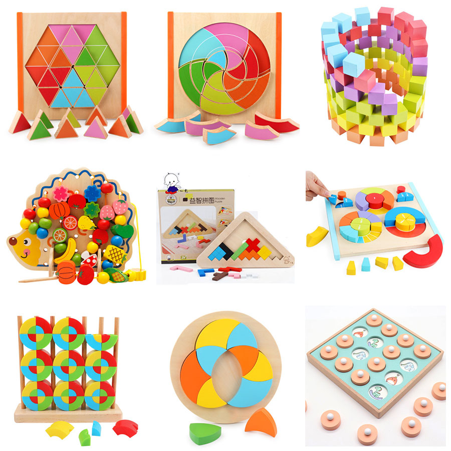 Kids Wooden Montessori Early Education Toy Color Matching Game Classified Cup Kindergarten Teaching Maths Toy