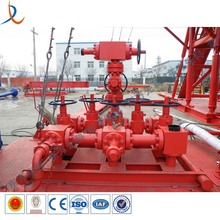 High pressure oil or gas drilling well test manifold for gas field use