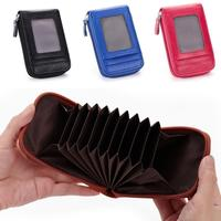 Unisex RFID Business ID Holder Hasp Cardholder Pu Leather Coin Purse Men Women Credit Card Holder Case Wallet