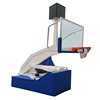 indoor Full Size Electro Hydraulic height adjustable Basketball Stand FIBA Standard