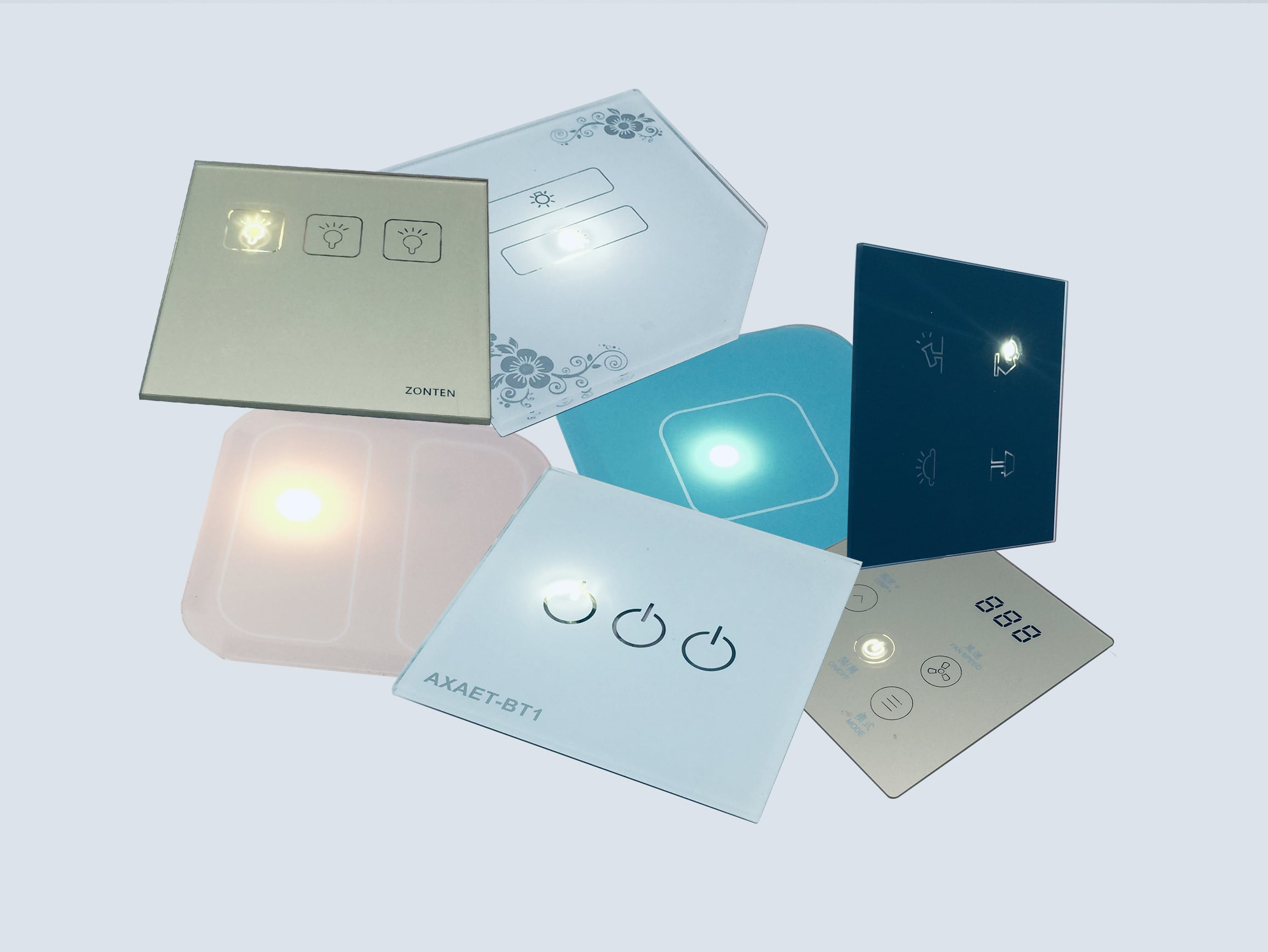 10 Years Experience Factory For High Quality Tempered Glass Tempered Touch Sensor Light Switch Glass Panels