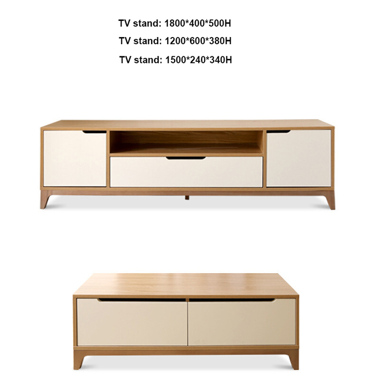 Small apartment furniture storage coffee table MDF tea table set