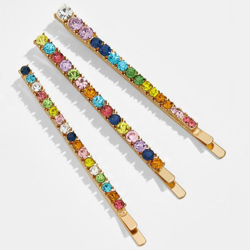 Fashion new spring and summer hairpin cross-border exclusive alloy color diamo for girls and lady