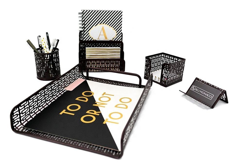 Топ amazon 2018, офисные школьные детские подарок 5 шт. металлическая сетка перфорированные набор канцелярских принадлежностей для струйного принтера desk органайзер и для дома; Обувь для офиса