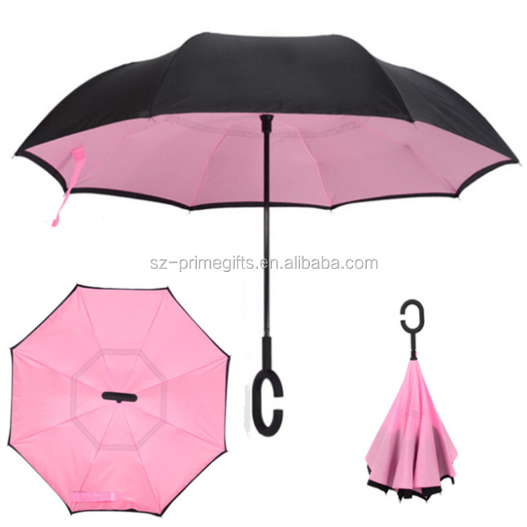 High Quality Hot Sale Customized Reverse Umbrellas with Logo Prints