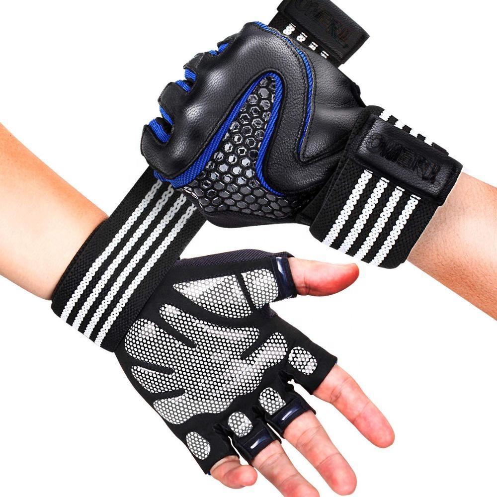 Полная поддержка запястья, дышащие, с дополнительной рукояткой, мягкие, для подъема веса, перчатки для тренажерного зала, для тренировок, езды на велосипеде <span style=