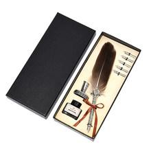 1 комплект, винтажная каллиграфическая перьевая ручка, чернильная авторучка(Китай)