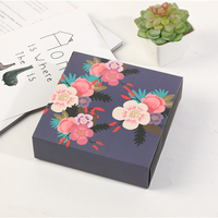 Fashion design custom printed gift package wedding bridesmaid gift box candy packing gift box