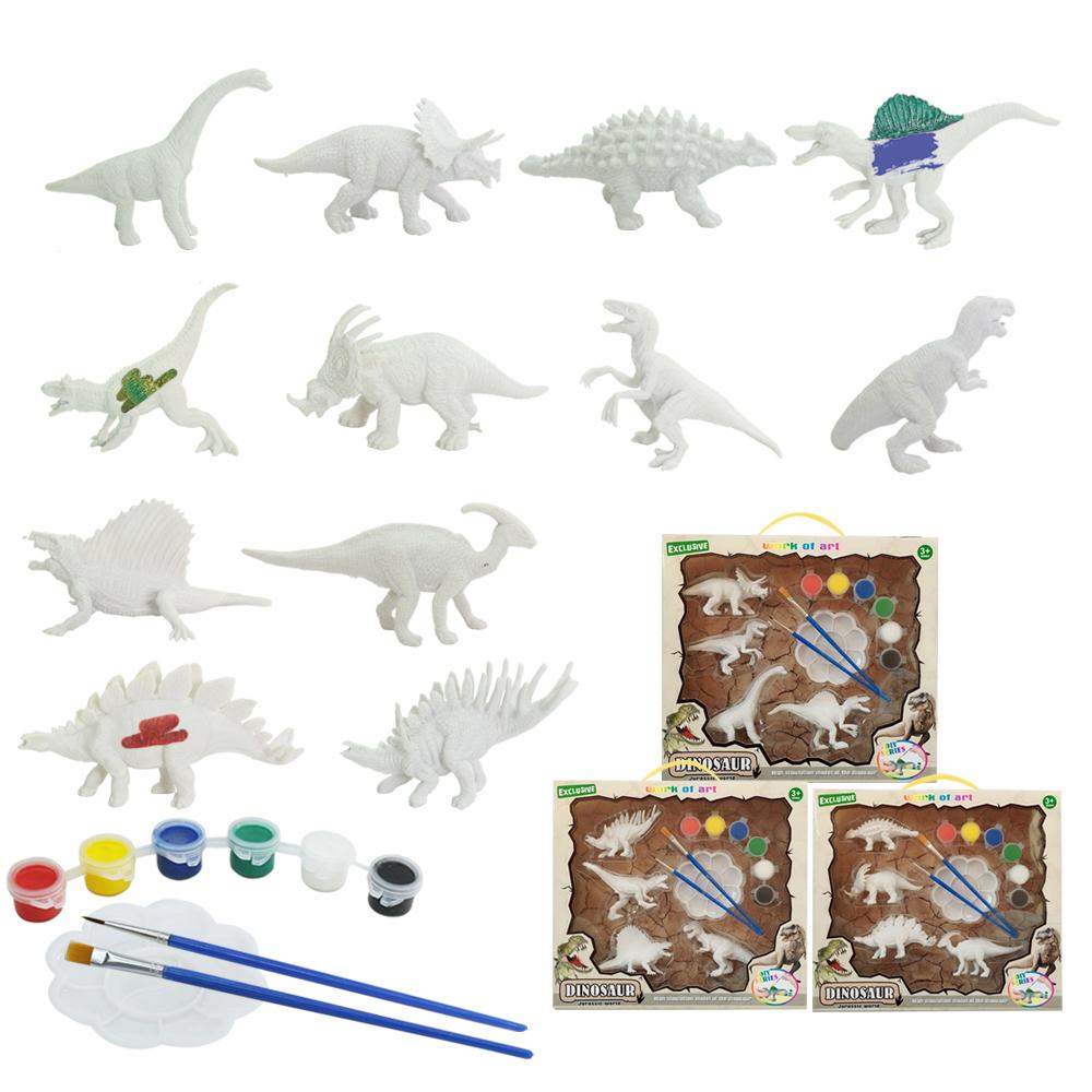 2020 בטיחות מקורה לשחק מתנה אינטליגנטי לבן 3d דינוזאור מודל מתנת ילדי diy חינוכיים צעצוע