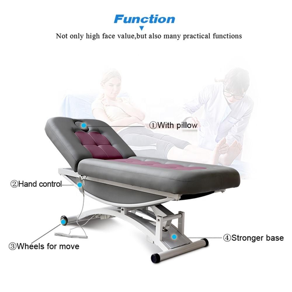 Низкая цена терапия для тела спа-салон красоты, косметический ресниц 2 электродвигатели массажный стол электрическая Массажная кровать