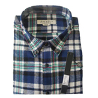 custom 100% cotton pointed collar plaid flannel shirt for men