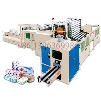 cheap full-automatic small scale automatic toilet tissue paper roll making and winding rewinder machine production line for sale