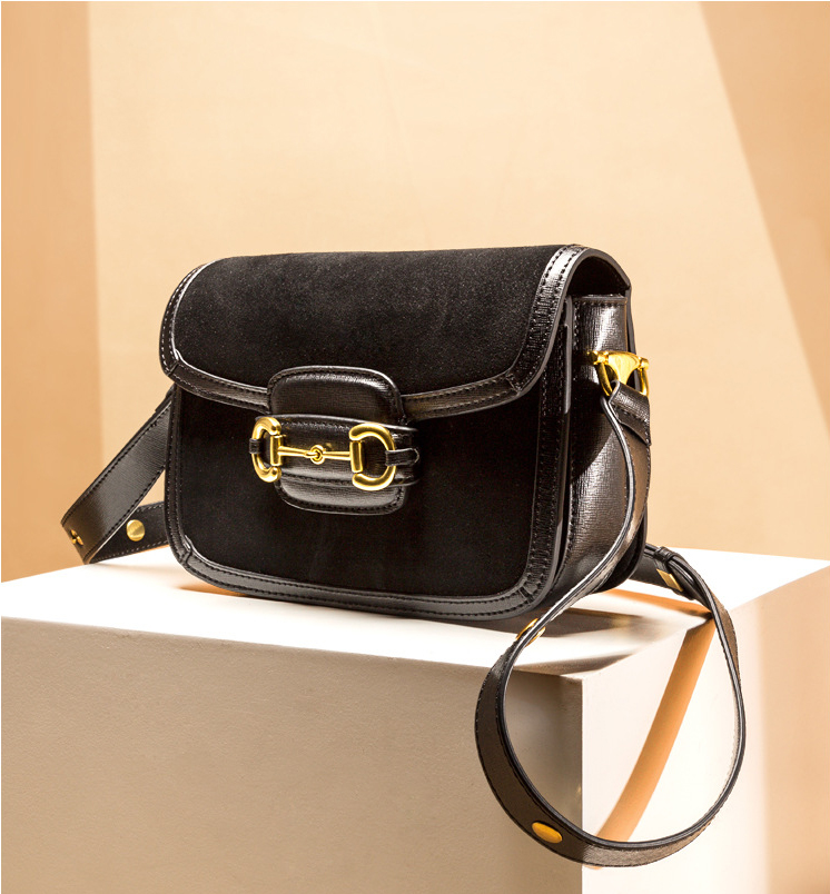 Wholesales Suede Cowhide Satchel Purses for girls Custom Full-Grain Leather Dermis Girls Evening Bag