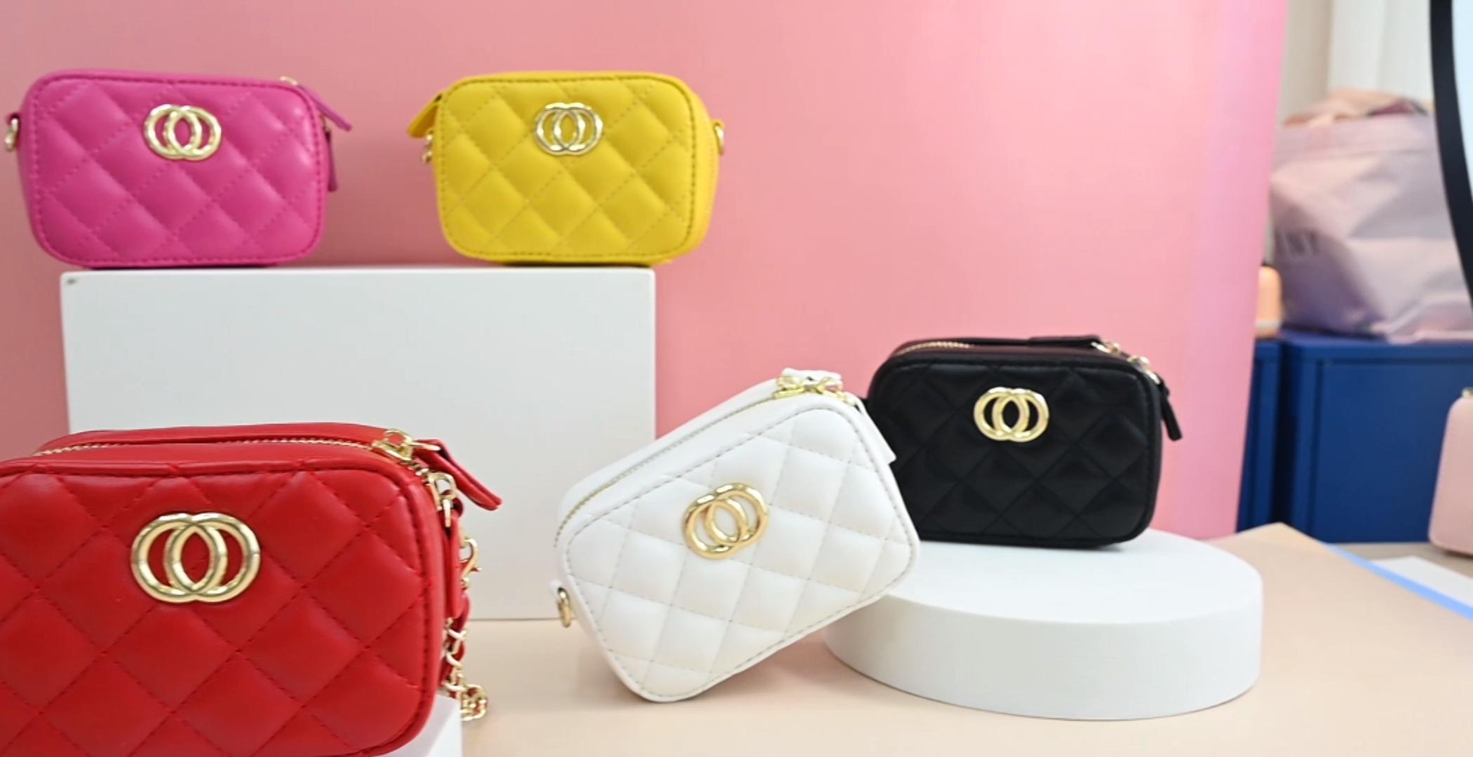 2020 प्रकाश गुलाबी ziplock बैग बच्चों मिनी जेली बैग प्यारा फैशन हैंडबैग लड़कियों