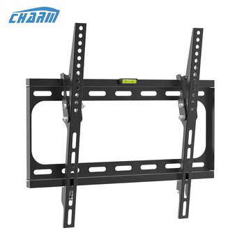 "Tilting TV Wall Mount Bracket for Most 26-55"" Flat Screen 4K TVs-TV Mount with VESA 400x400mm, for 16 inch stud, up to 99lbs"