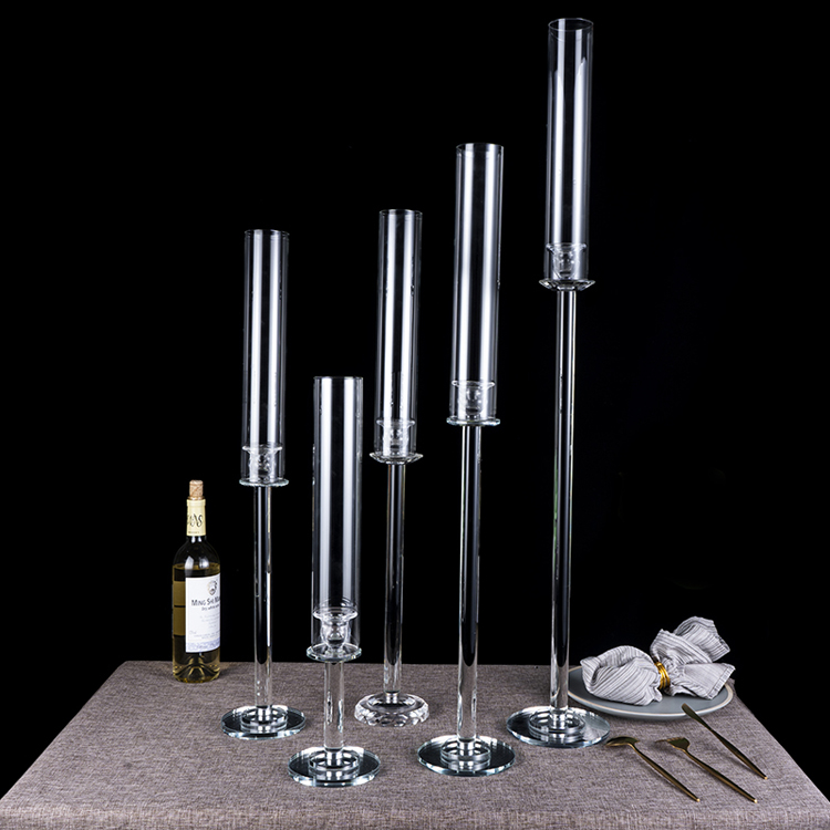 cheap chimney glasses candle holders wedding accessories for tables