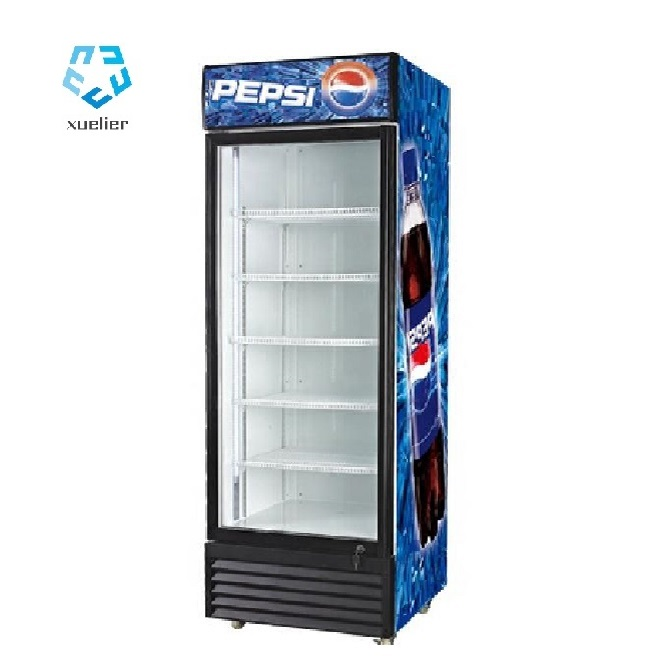 Factory glass door Pepsi beverage display case freezer cooler refrigerator with good quality