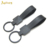 Custom project New fashion Carbon fiber leather metal keychain Chain Ring Vintage Simple-black