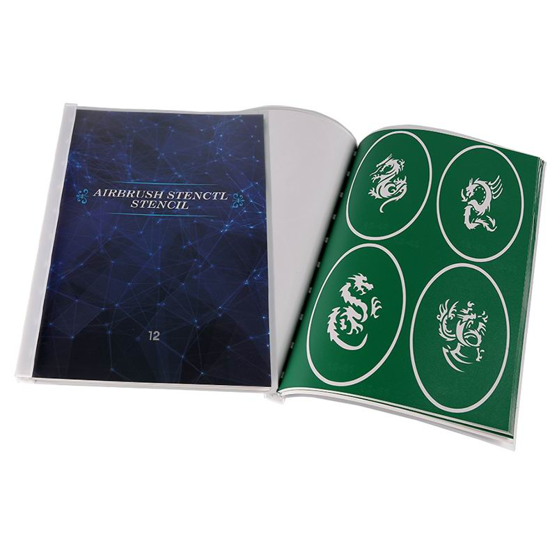 Book 12 2019 Latest design high quality airbrush templates and tattoo stencil dragon