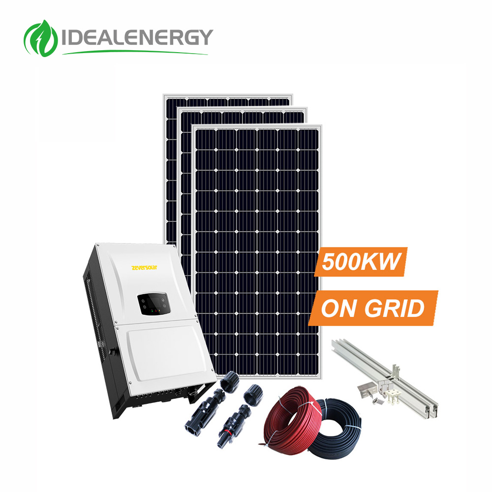500kw 500000w 800kw all complete kit in one solar power energy ongrid system