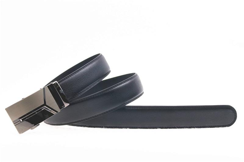 Fashion Design Auto Slide Buckle PU men belt Pigskin Grain for Gentleman with a Good Price
