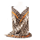 RTS cheap mid-weight women silk scarves zebra animal print scarf winter brushed polyester shawl warm cashmere pashmina