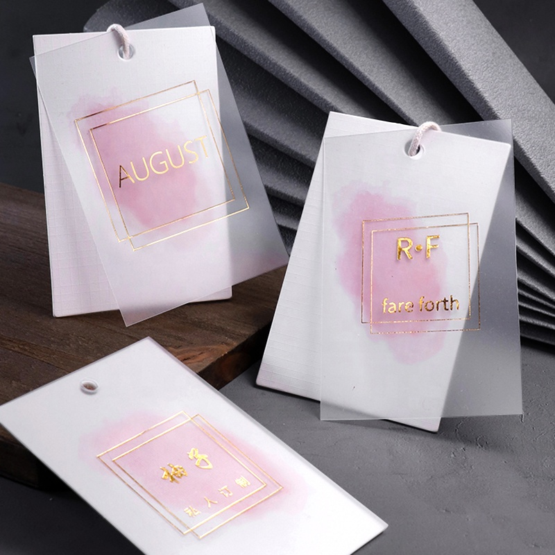 Factory Direct Sales Free Design Garment Customized Clothing Logo Label Hang Tags