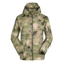 Man Military Tactical Hiking Jacket Lurker Shark Skin Softshell V5 Outdoor Hunting Coat Army Camo Hooded jackets