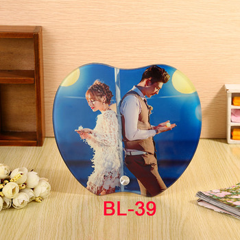 Sublimation blanks elegant BL-39 185*165MM Factory design Sublimation  High Quality Glass picture Photo frame  home decoration