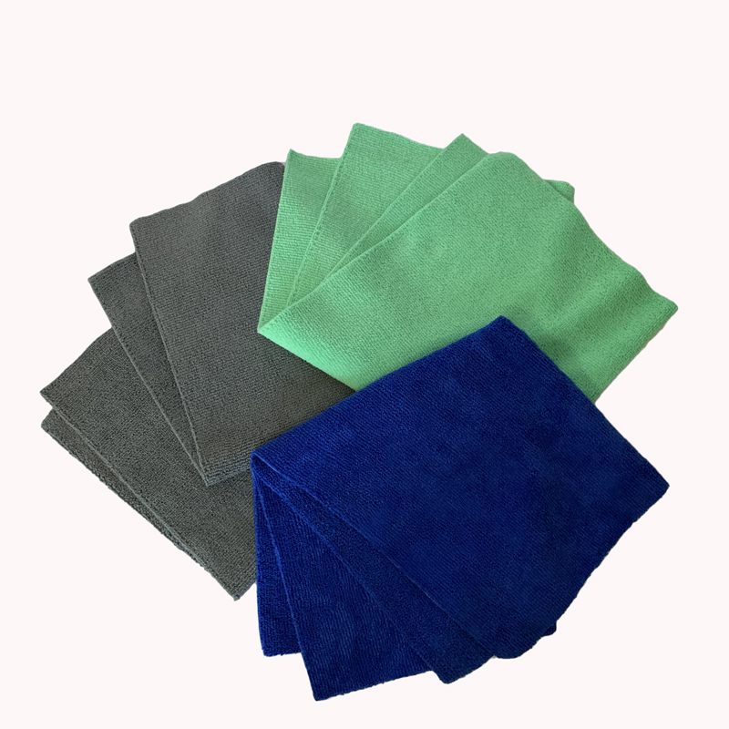 china suppliers wholesale 350 gsm edgeless 16x16 microfiber towel auto detailing cleaning