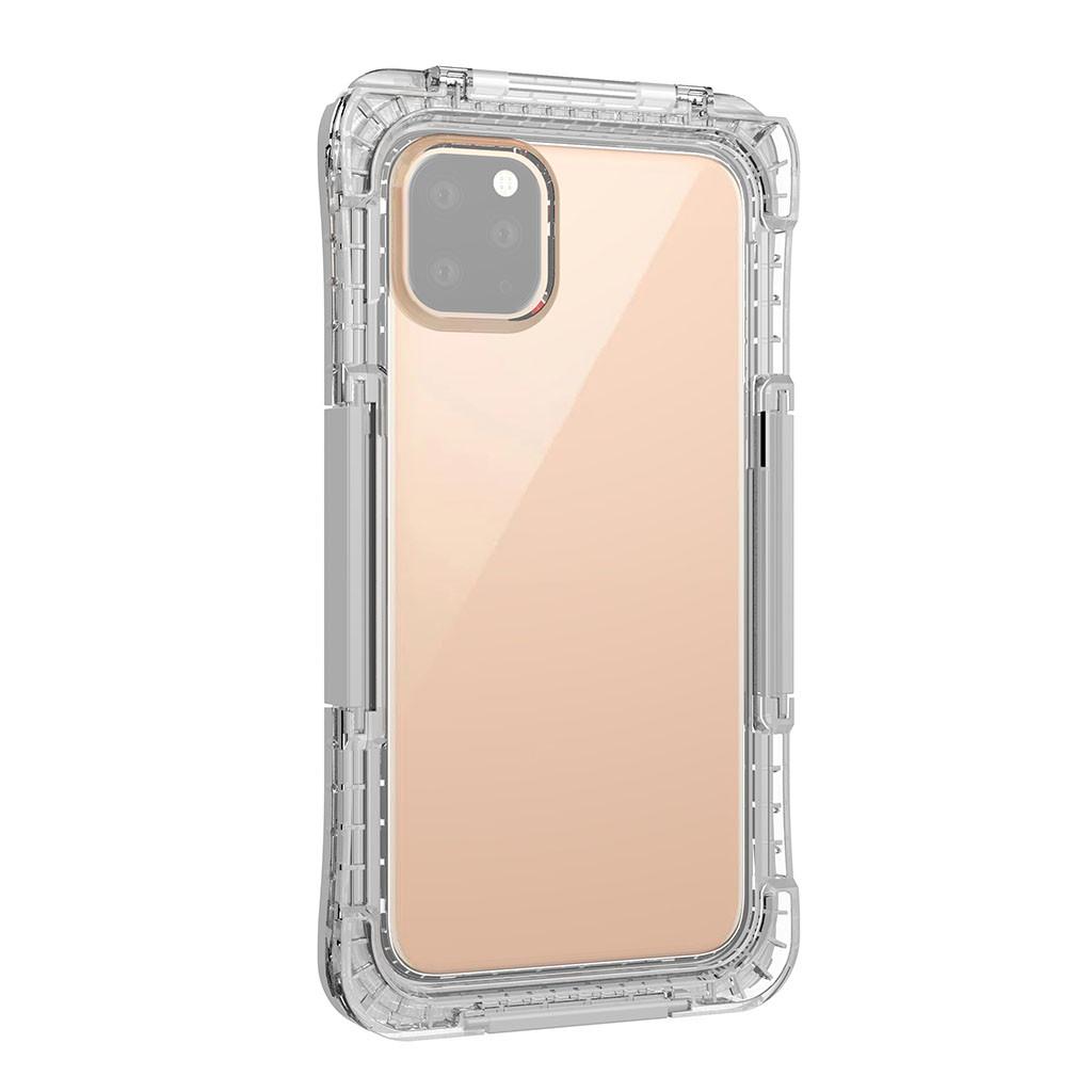 Чехол для IPhone 11pro Max 6,5 дюймов водонепроницаемый ударопрочный бампер чехол прозрачный PC + TPU силиконовый чехол(Китай)