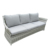 Outdoor Garden Furniture Rattan/wicker 4pcs sofa Set light grey