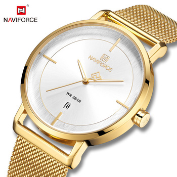 relojes de mujer hombre mujer 2019 hot sale reloj deportivos pulsera naviforce wristwatches for Couple lovers navi force 3009