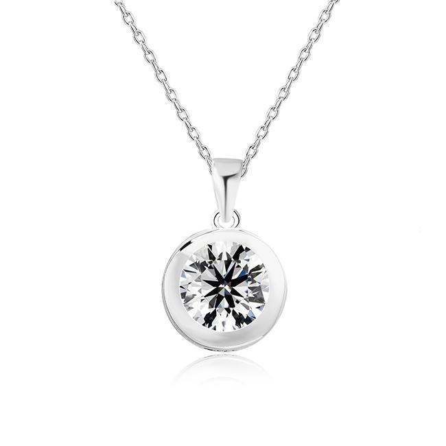 925 스털링 실버 골드 도금 다이아몬드 사용자 정의 목걸이 펜던트