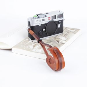 Hot sale fashion vegetable tanned cowhide camera wrist strap