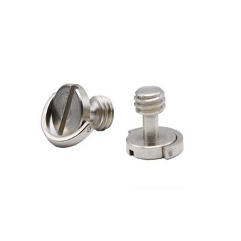 1/4-20 threaded stainless steel slotted camera mounting screw