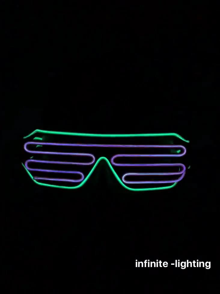 Weihnachten Party Glow Neon Rave Gläser Licht up LED Draht Blinkt EL Shades Sonnenbrille