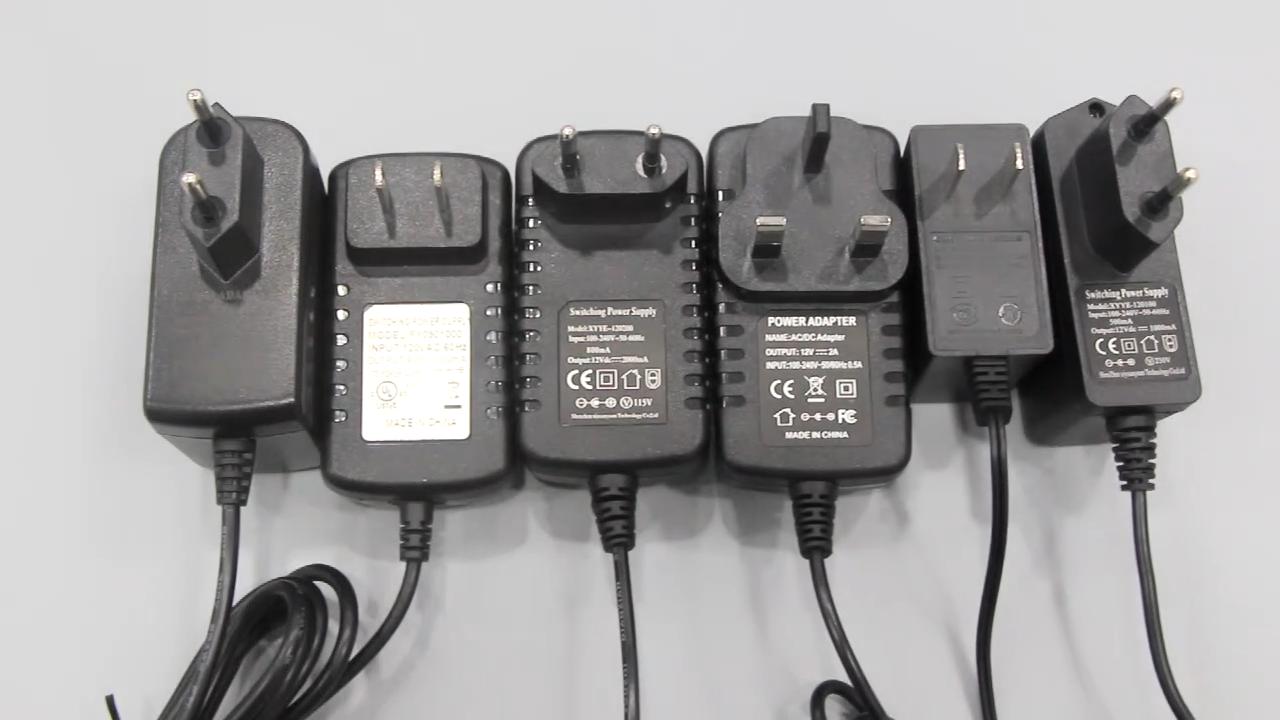 wholesale DC EU 9v/12v/24v 1A 2A AC/DC power adapter 24w 12v 2000ma power supply 12v PSU power adapter european