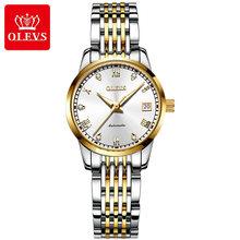 OLEVS женские часы, механические часы, роскошный браслет, наручные часы, элегантные женские автоматические часы, часы Relogio Feminino(China)