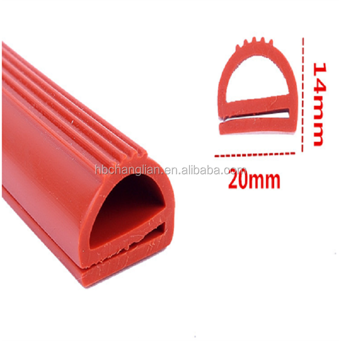 Orange E shape oven seal