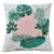 Cotton Linen Burlap Square Tropical Leaves Series Throw Foundation Cushion Case
