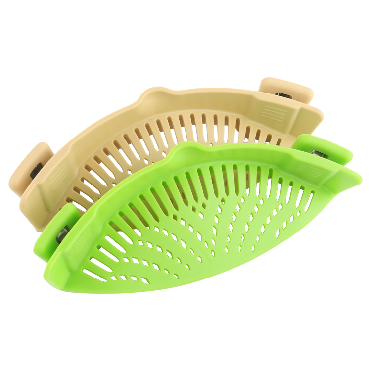 BPA free silicone Kitchen Strainer Clip On Silicone Colander Fits all Pots and Bowls
